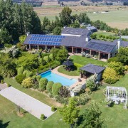 <p>Aerial view of Lime Tree Lodge</p>