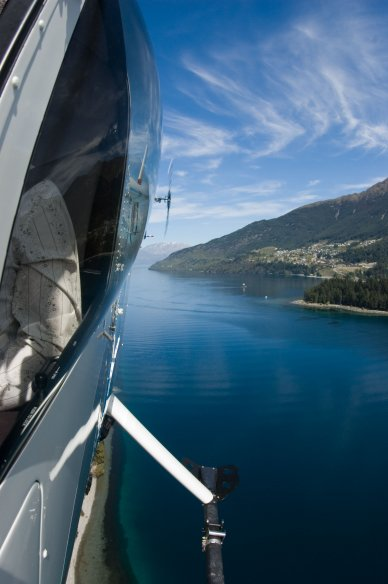 Helicopter of Lake Wakatipu Queenstown Mark Evans Photography